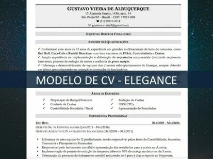 Modelo de CV - Elegance